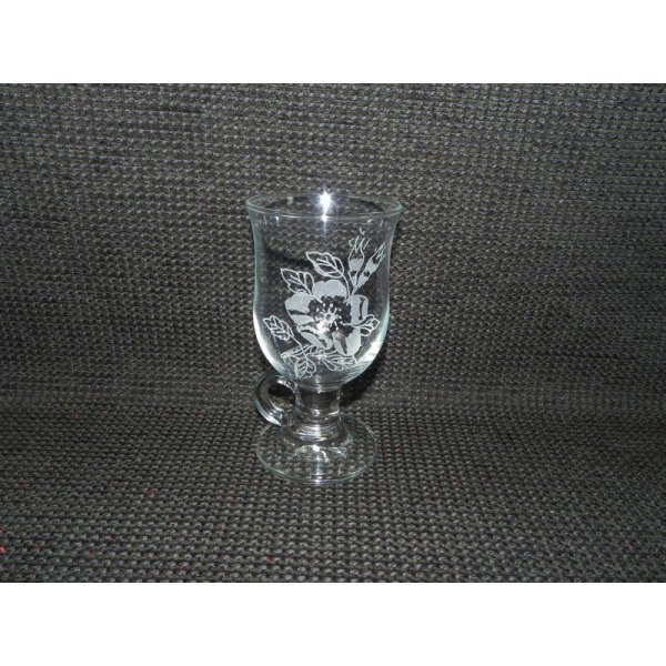 Irish coffee glas m/rose motiv