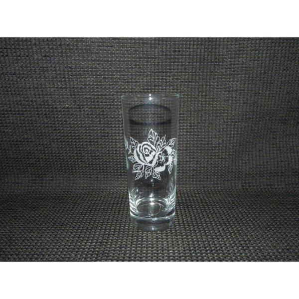 Drikkeglas m/blomstermotiv
