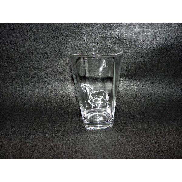 glas med hestemotiv