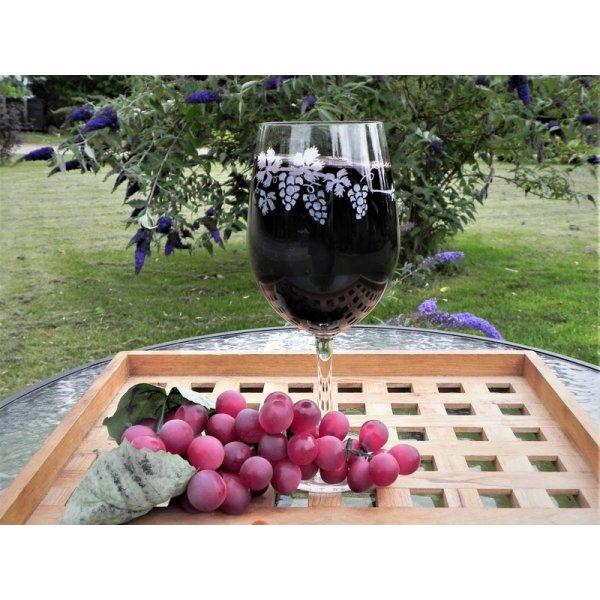 Rødvinsglas med druer