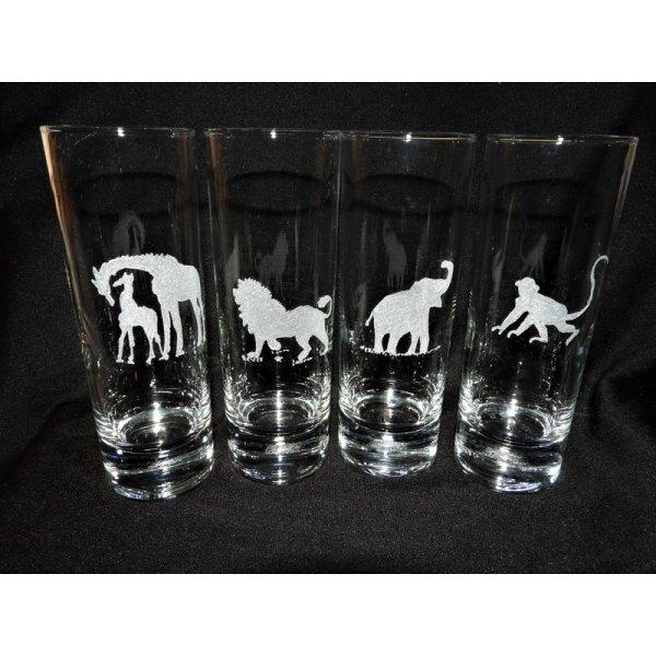 vandglas 33 cl. med dyremotiv