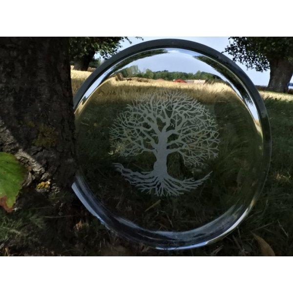 glas fad med Livets træ