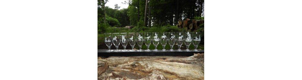 Sortiment af glas til Jægeren.